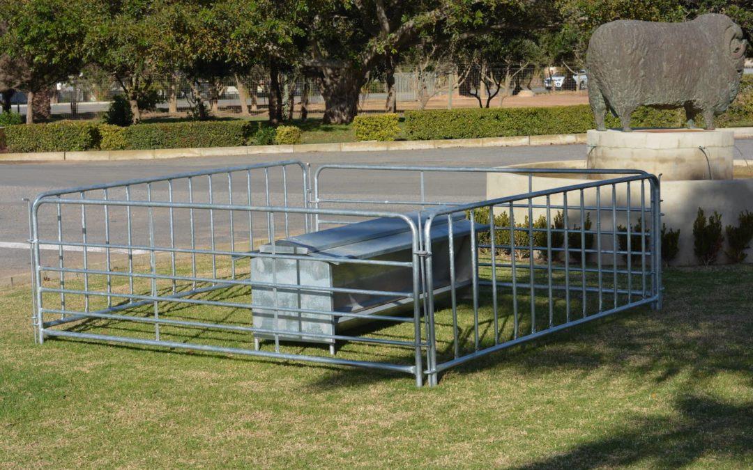 Feeding trough with gates