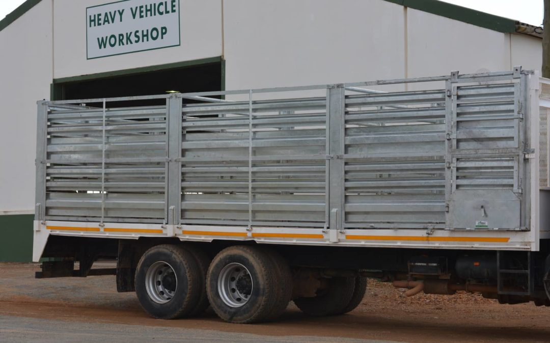 Trailor manufactured from galvanized material – appropriate for sheep and oxen