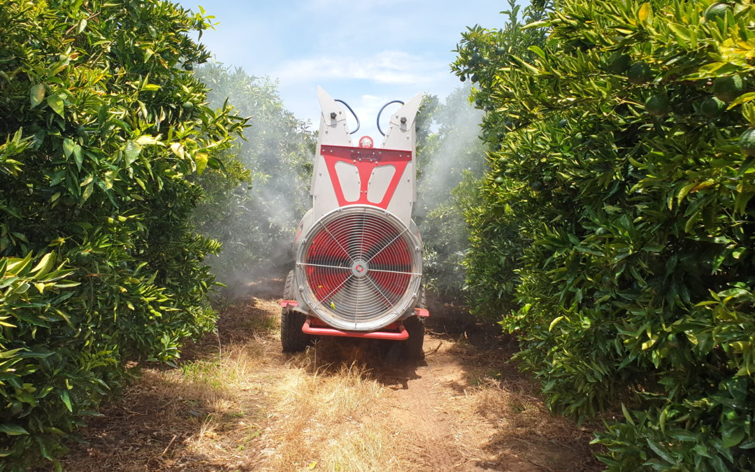 Innovation in Conservation agriculture – Rovic's Evenflow® Orchard Mist Blower